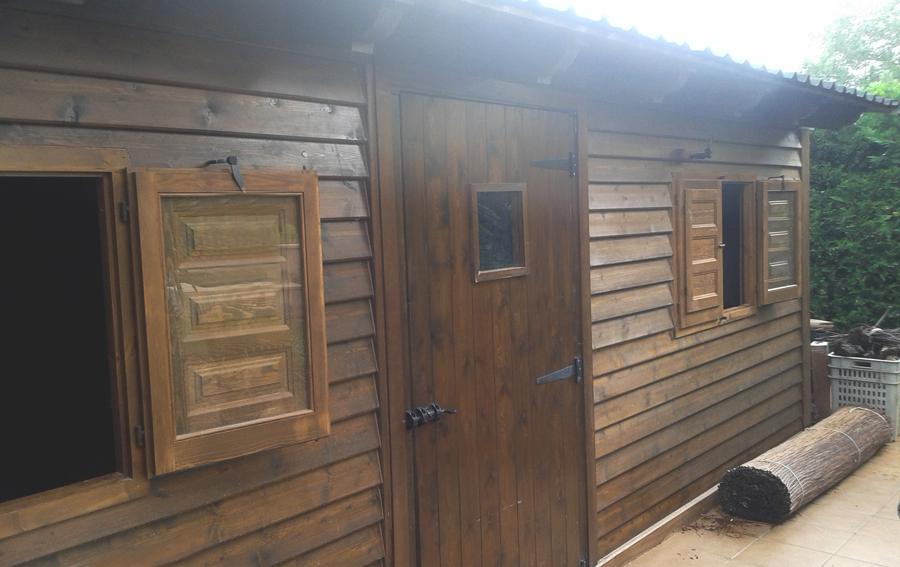 Tambi n hacemos montajes pirenaica - Cobertizo de madera ...