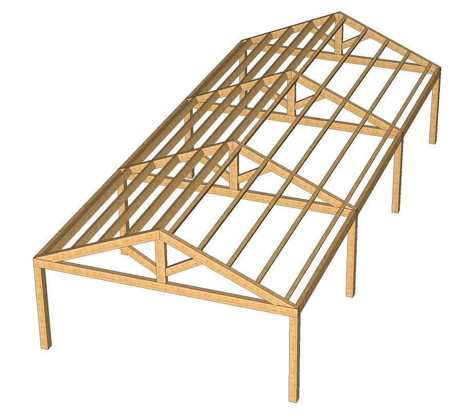 Ingenier a montajes pirenaica for Como hacer un techo a cuatro aguas